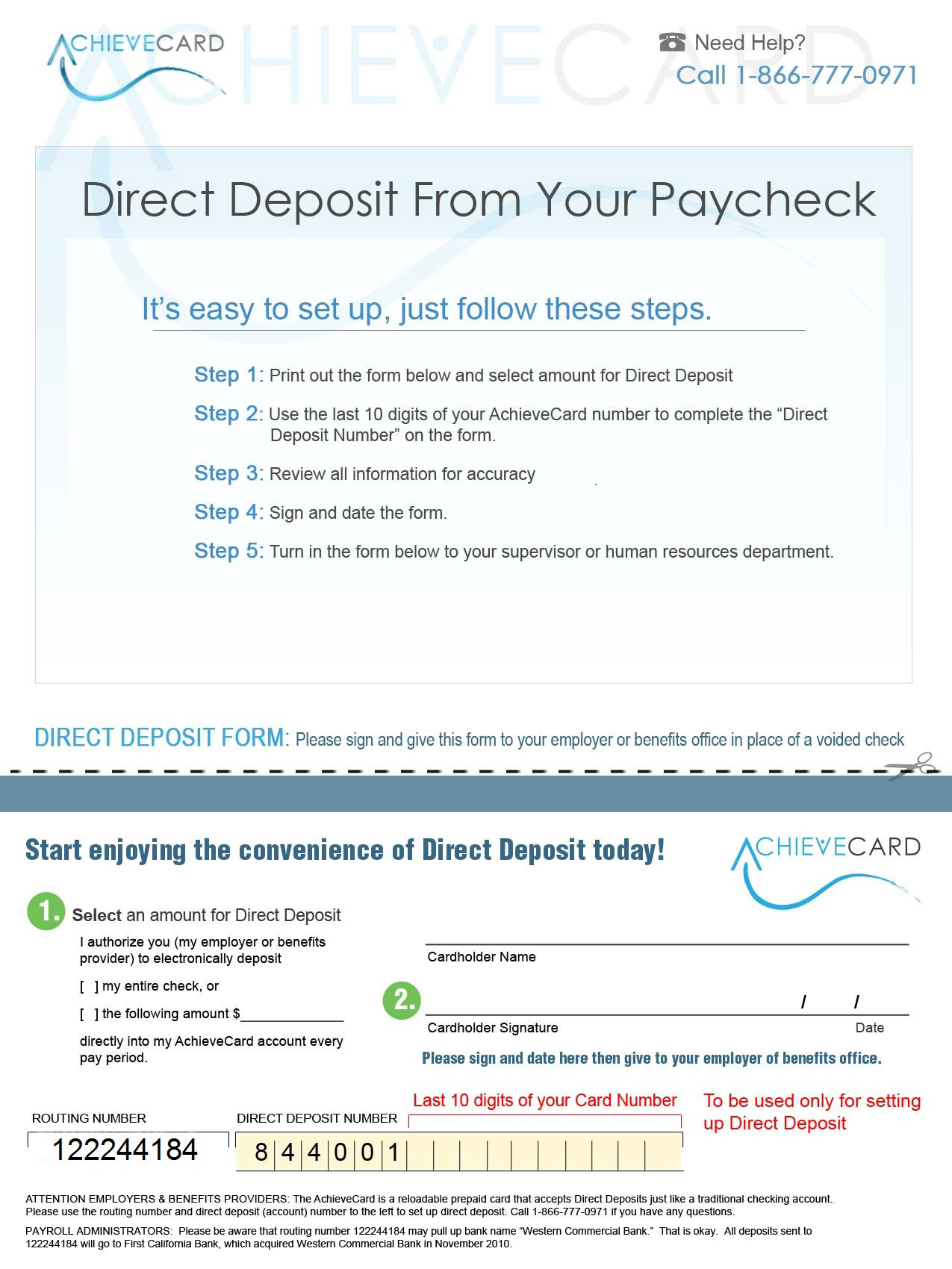 how to get direct deposit
